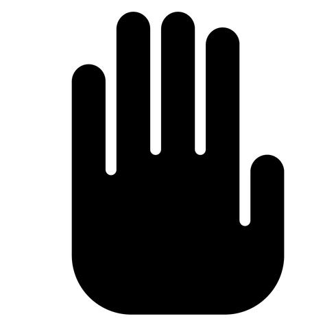 dejar de mano vector de señal