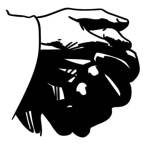 biddende handen vector