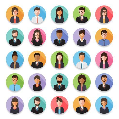 Set di avatar uomo d'affari e imprenditrice.