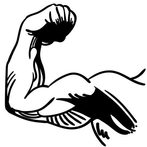 vetor de flexão de braço forte