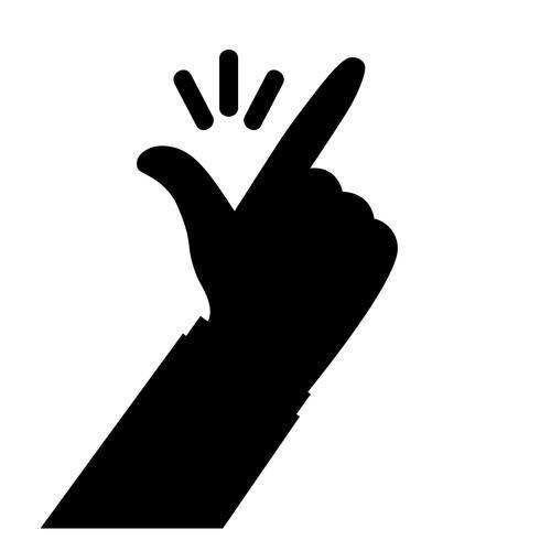 finger snap vector