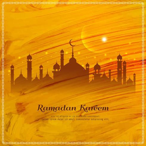 Priorità bassa astratta di stile dell'acquerello di Ramadan Kareem
