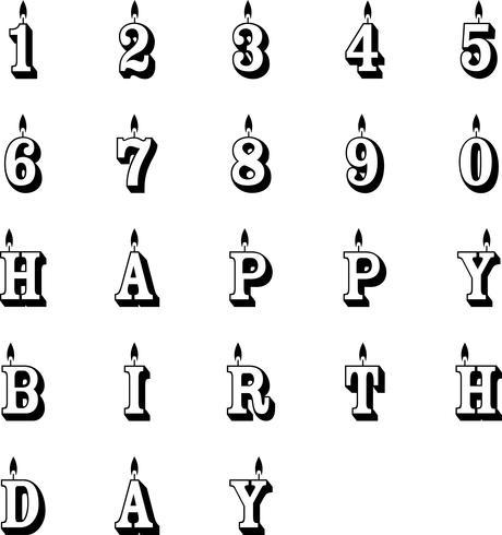 Geburtstagskerzen Vektor Eps