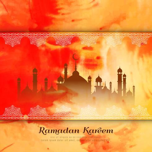 Abstrakter Ramadan Kareem-Aquarellarthintergrund
