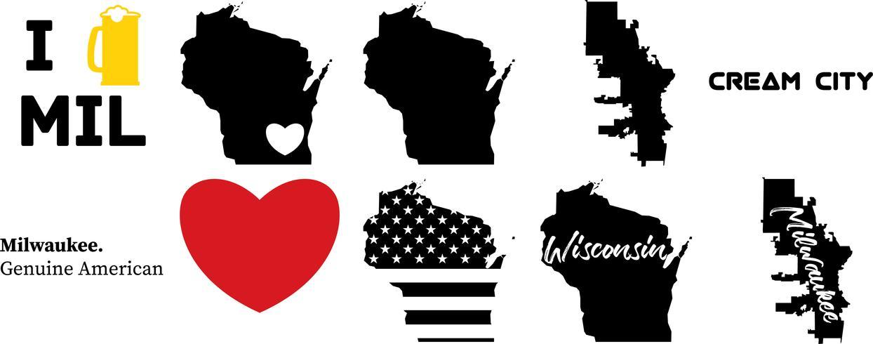 Milwaukeee Wisconsin, EE.UU. mapa