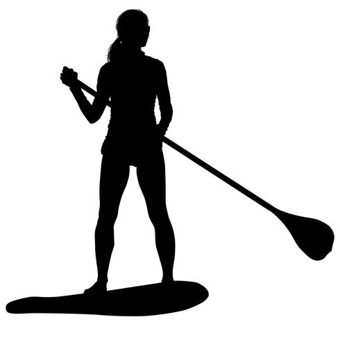paddleboarding vector eps
