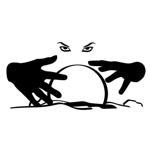 vettore di sfera di cristallo