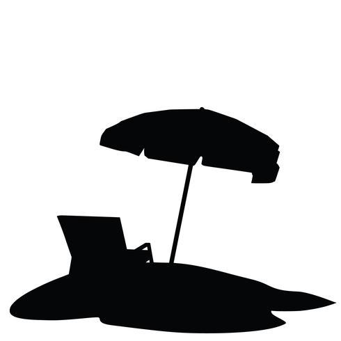 vettore di ombrellone