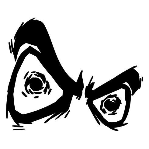 wütende Augen Vektor