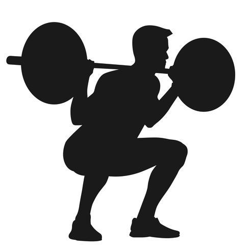 levantamiento de pesas vector