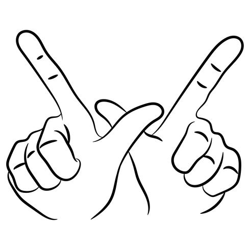 whatever hand sign vector