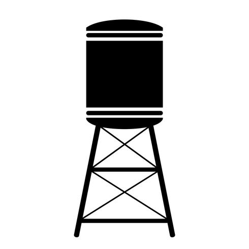 water tower vector eps