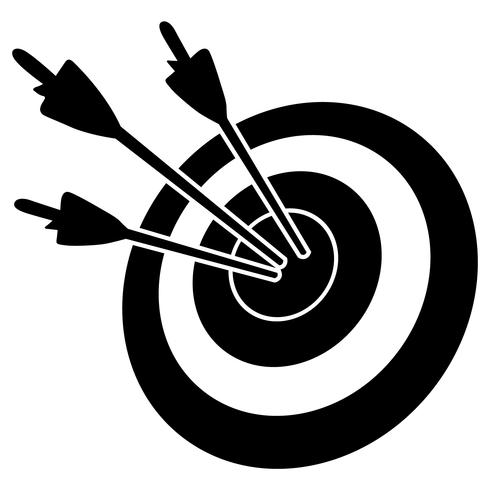 Bogenschießen Pfeil und Bogen Vektor