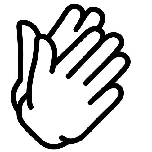 vetor de mãos de palmas