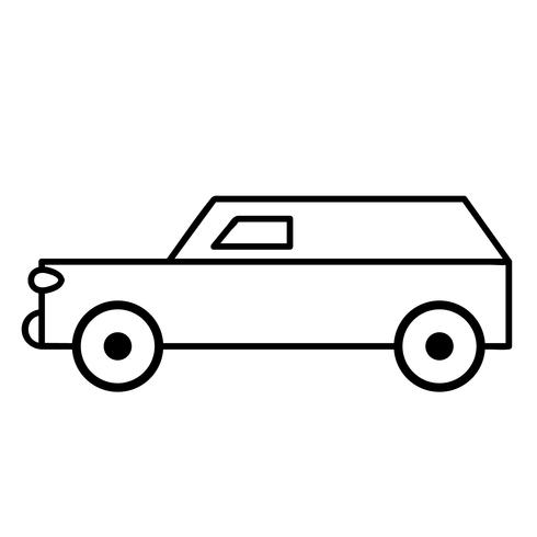 stationwagen vector eps