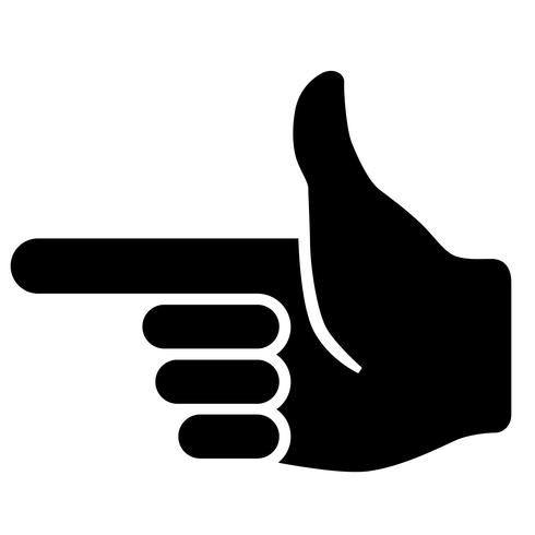 finger gun sign vector