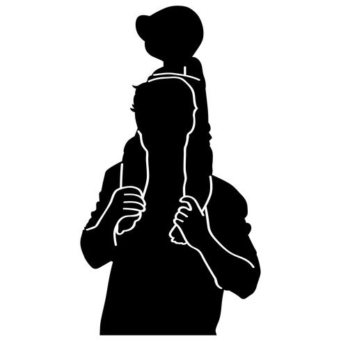 father carrying a baby
