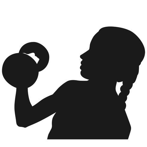 Gewichte heben Vektor