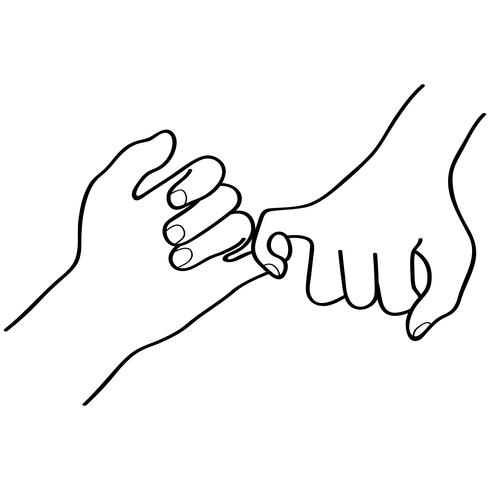 pinky promise vector