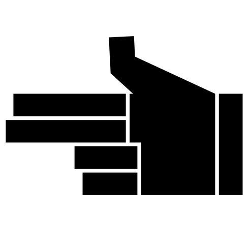 finger pistol tecken vektor