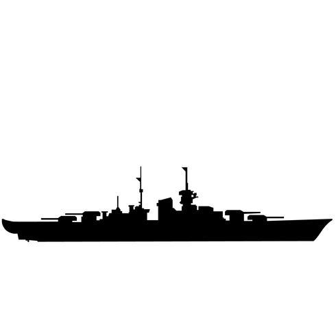 vettore eps della nave da guerra