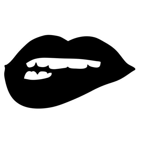 vecteur mordant de lèvre