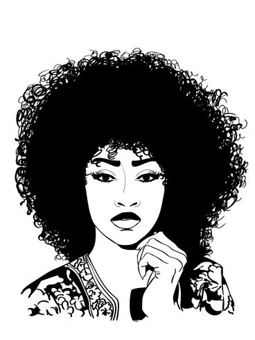 sexy afro vector eps