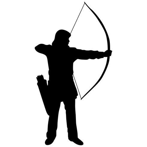 bågskytte båge och pil vektor