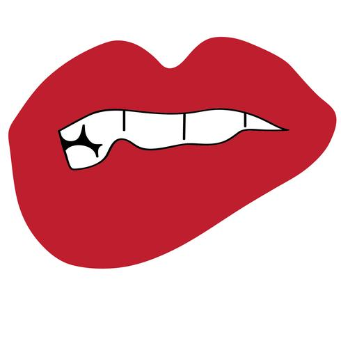 lip biting vector
