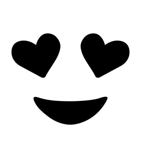 vector de ojos de corazon