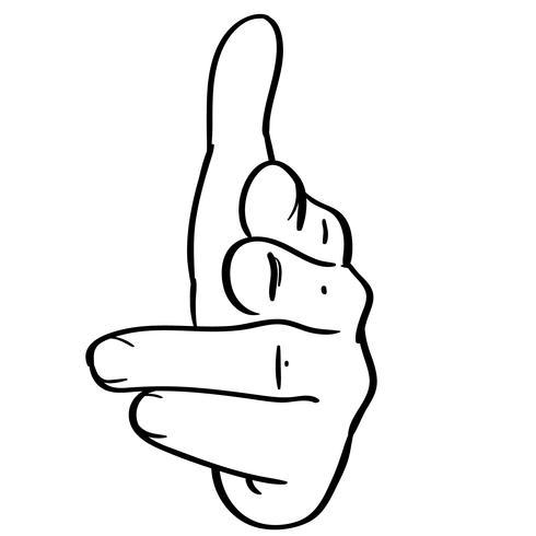 Finger Waffe Zeichen Vektor