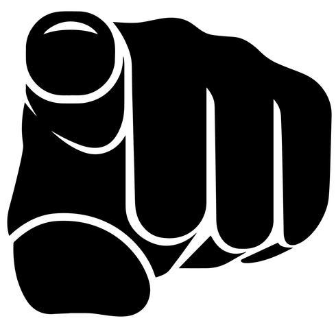 vettore di dito puntato