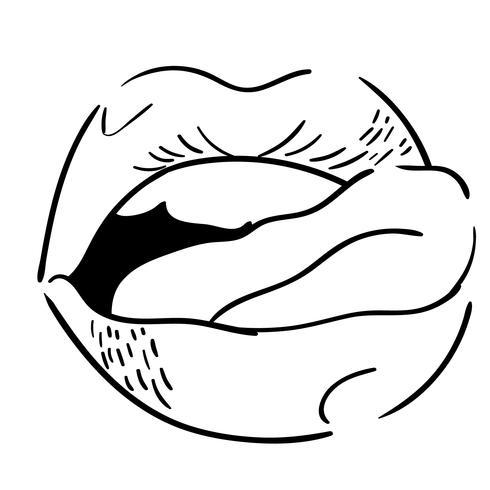 lengua fuera vector
