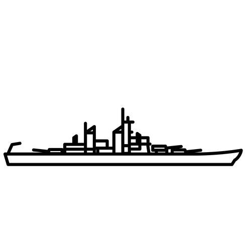 slagskepp vektor eps