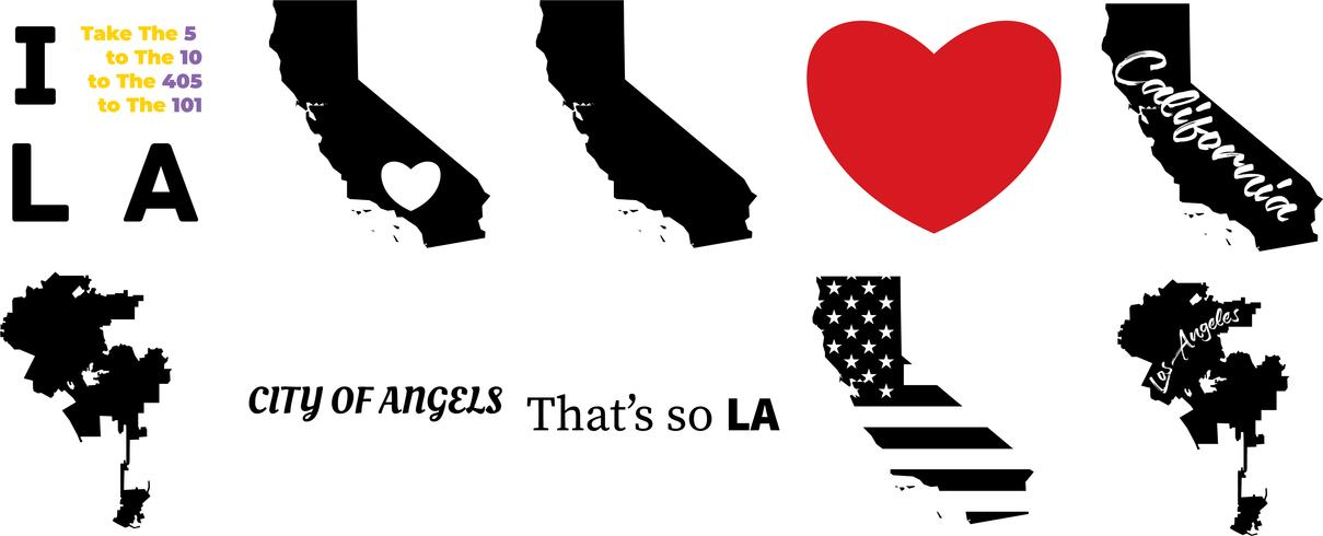 los angeles california vector map - Download Free Vector Art, Stock on