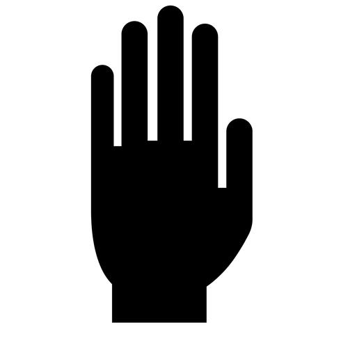 arrêter le vecteur de signe de la main