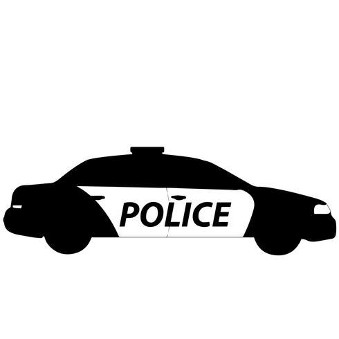 voiture de police vecteur eps