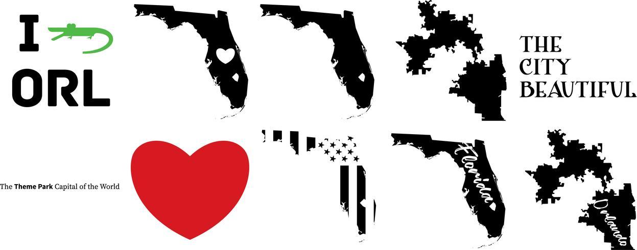 Orlando Florida US-Karte