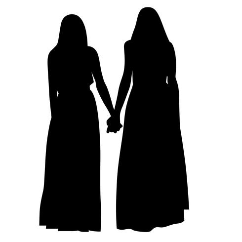 holding hands vector