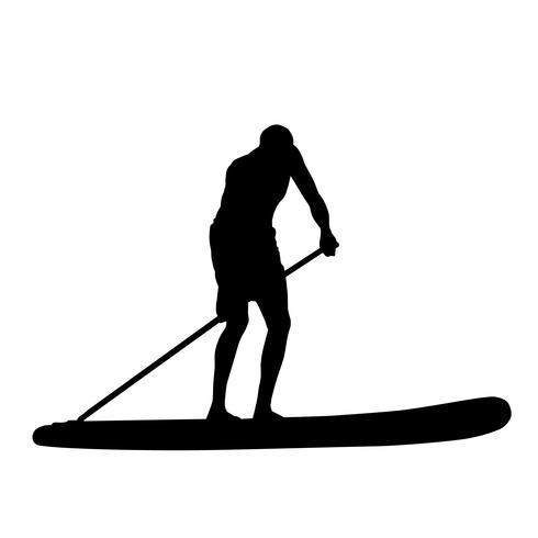 paddleboarding vettoriale eps