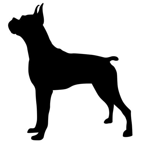 bokser hond eps vector