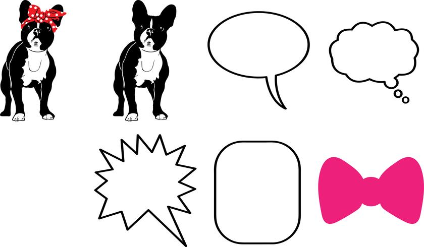 french bulldog vector eps