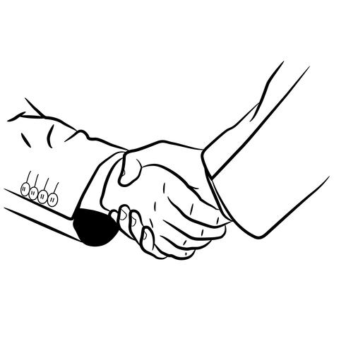 scambiarsi una stretta di mano
