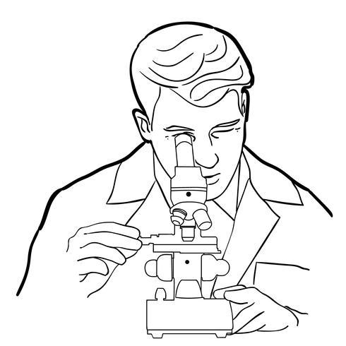 Mikroskop Vektor Eps