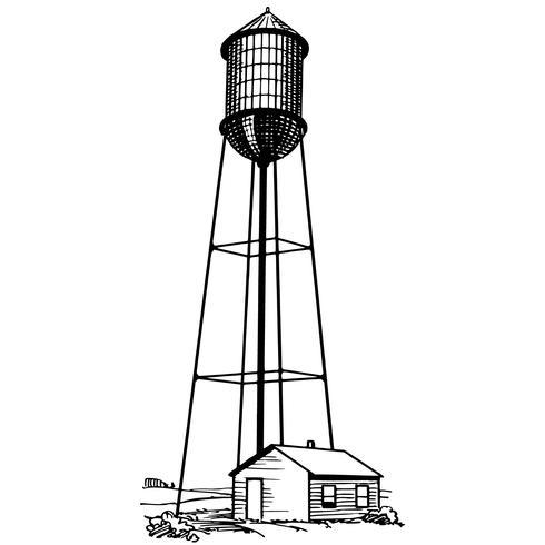 acqua torre vettoriale eps