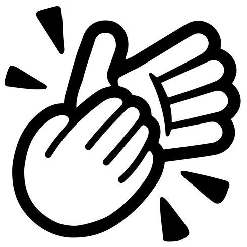 handen klappen vector