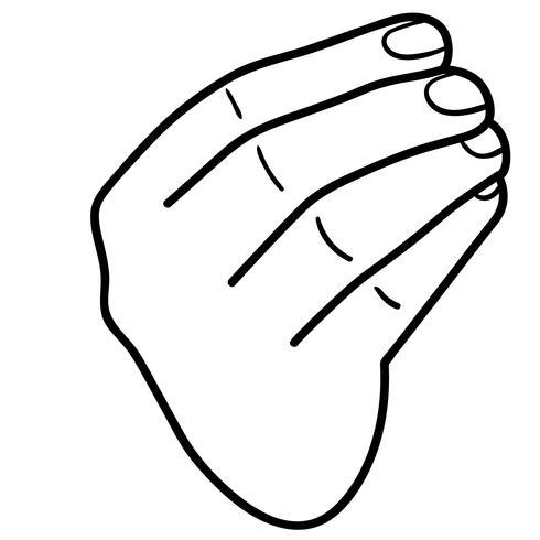 italian hand gesture vector