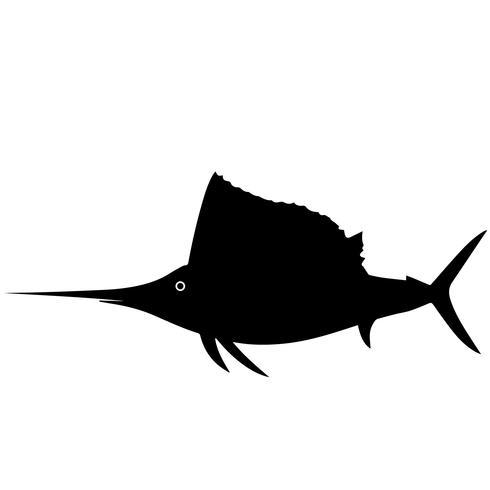 vettore ENV del pesce vela e del pesce spada
