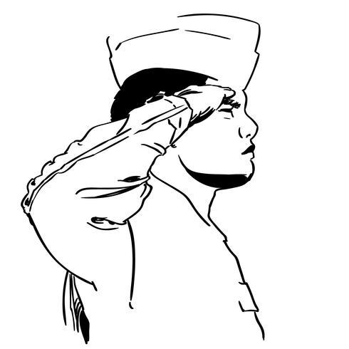 vecteur de salut militaire