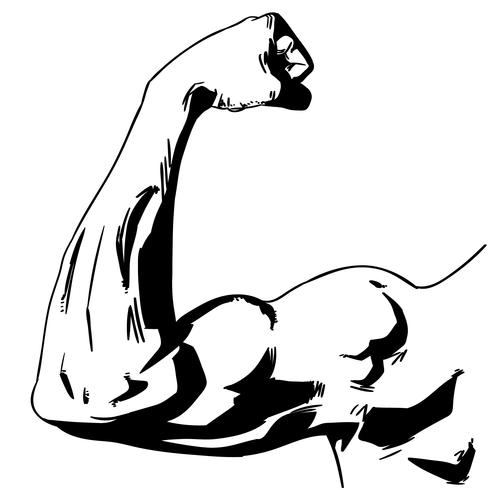 starker Arm flex Vektor
